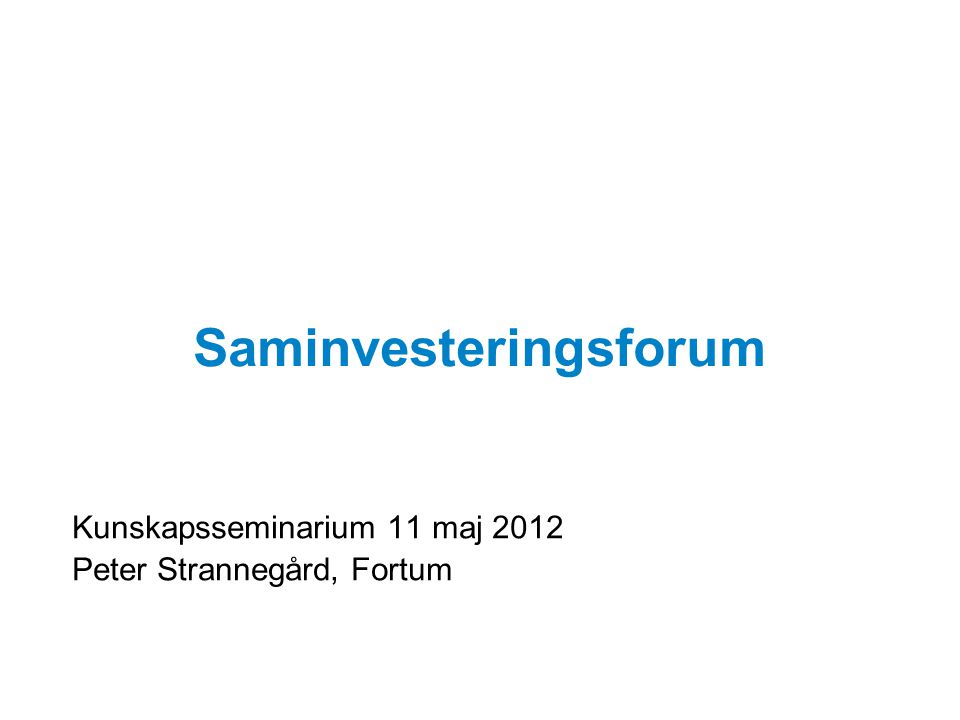 Saminvesteringsforum