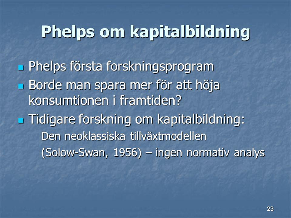 Phelps om kapitalbildning