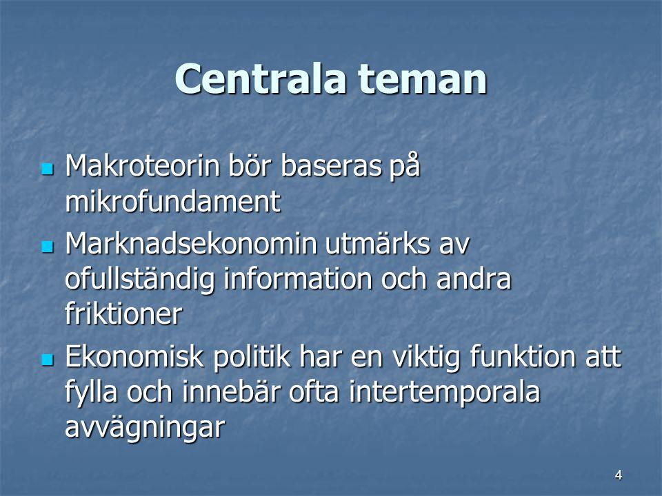 Centrala teman Makroteorin bör baseras på mikrofundament