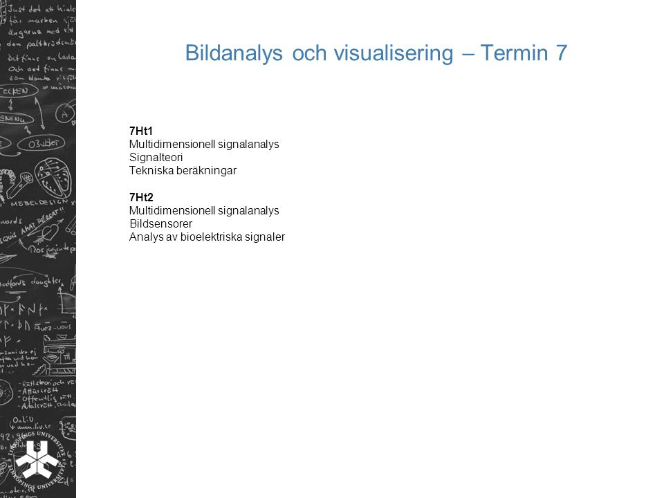 Bildanalys och visualisering – Termin 7