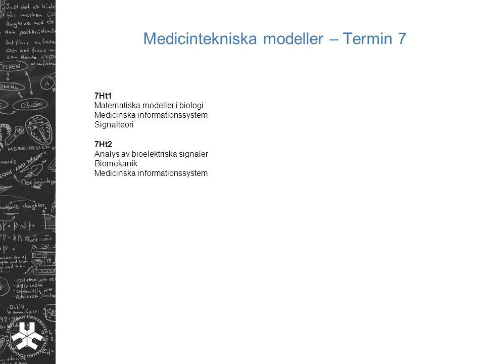 Medicintekniska modeller – Termin 7