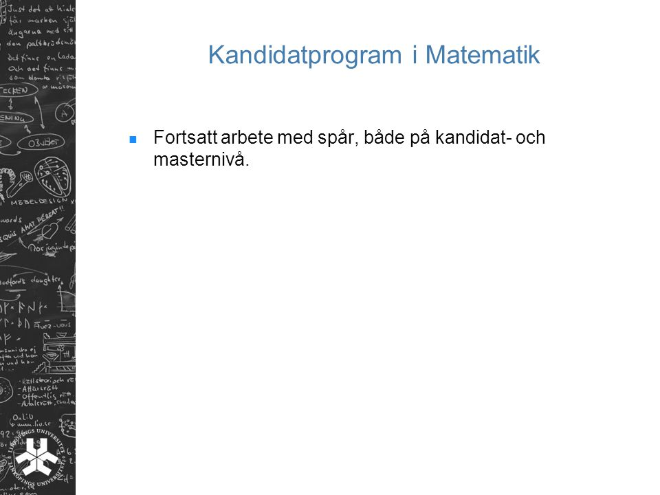 Kandidatprogram i Matematik