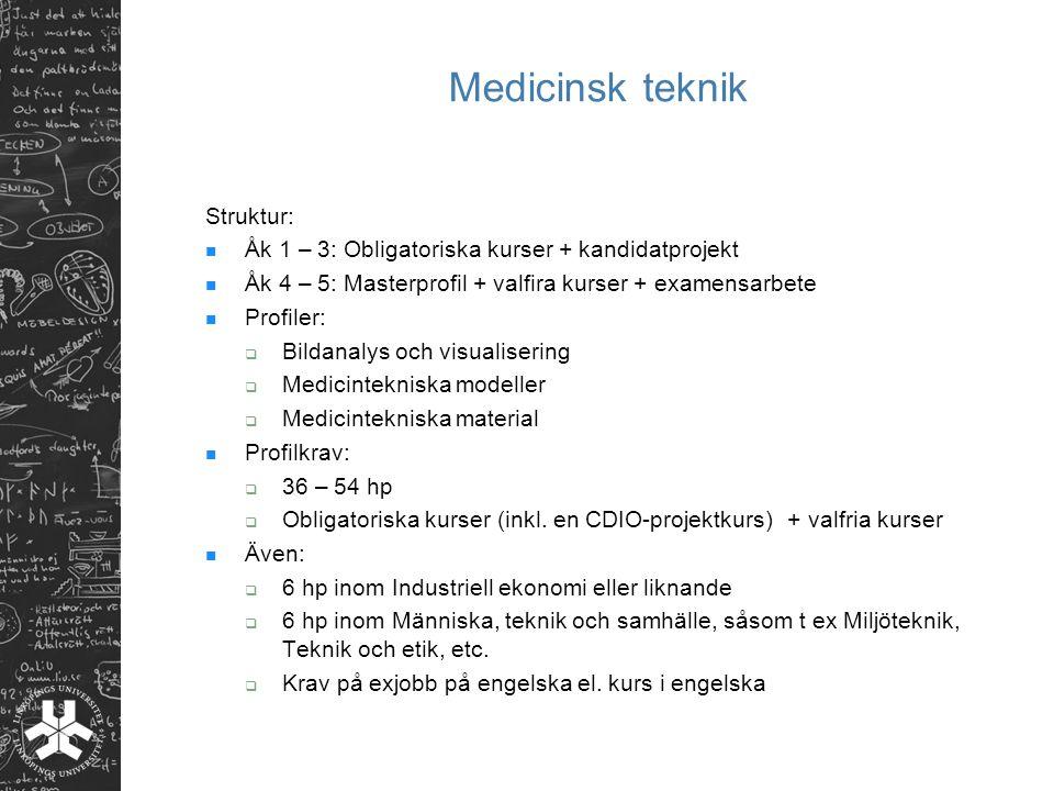 Medicinsk teknik Struktur: