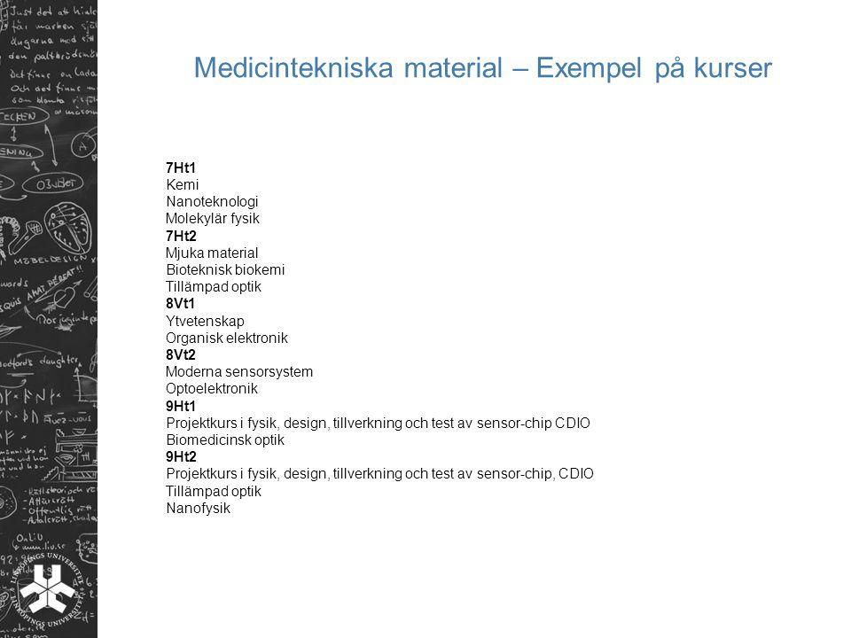 Medicintekniska material – Exempel på kurser