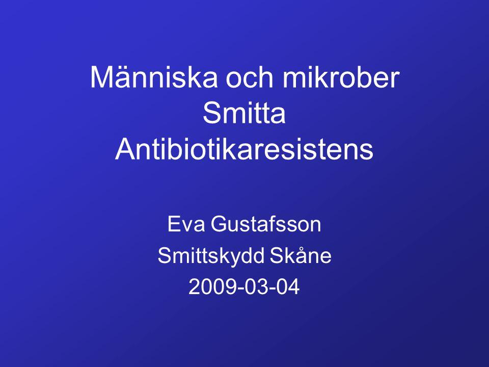 Människa och mikrober Smitta Antibiotikaresistens