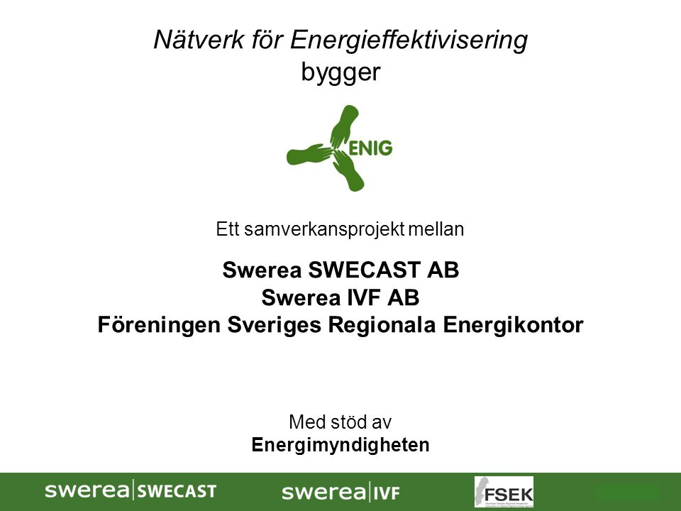 Föreningen Sveriges Regionala Energikontor