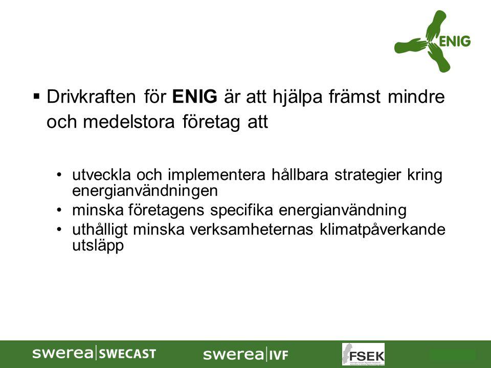 Drivkraften för ENIG är att hjälpa främst mindre och medelstora företag att