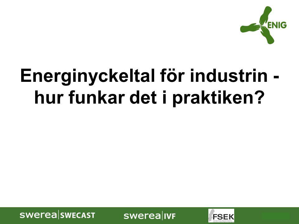 Energinyckeltal för industrin - hur funkar det i praktiken