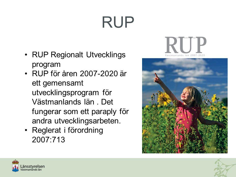 RUP RUP Regionalt Utvecklings program
