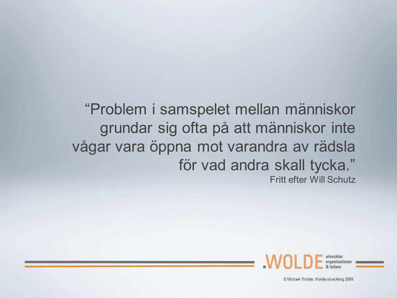 © Michael Wolde, Wolde utveckling 2009