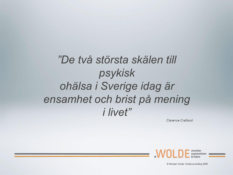 De två största skälen till psykisk ohälsa i Sverige idag är
