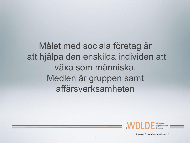 Målet med sociala företag är att hjälpa den enskilda individen att