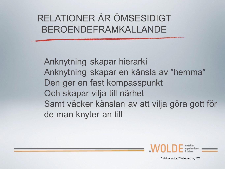 RELATIONER ÄR ÖMSESIDIGT BEROENDEFRAMKALLANDE