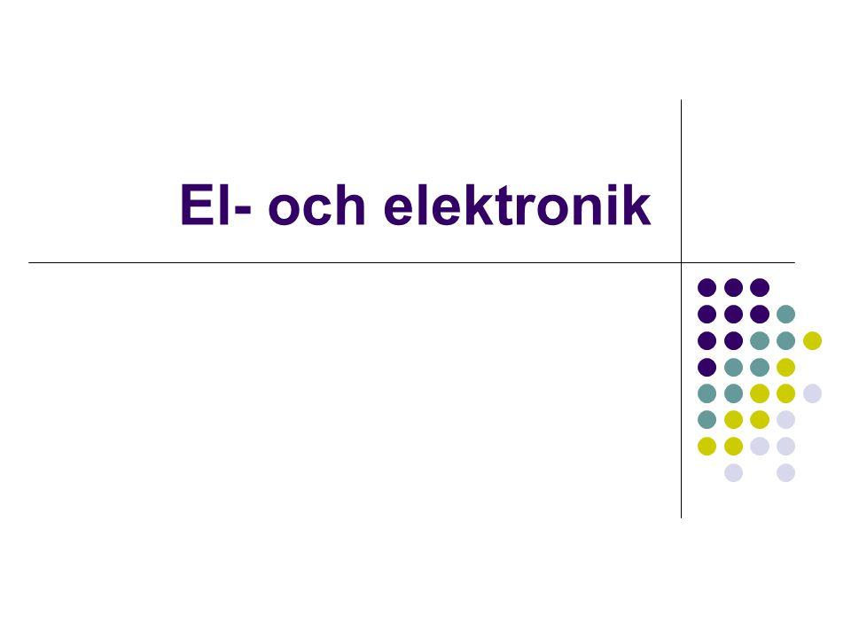 El- och elektronik