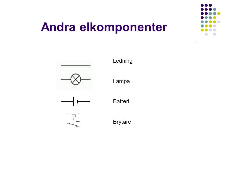 Andra elkomponenter Ledning Lampa Batteri Brytare