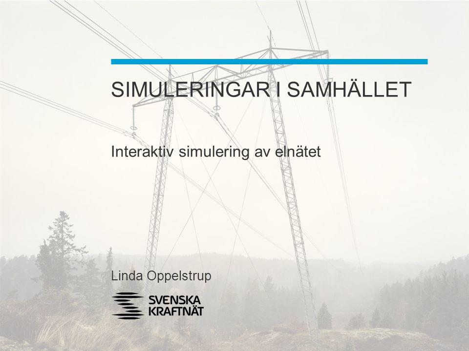 SIMULERINGAR I SAMHÄLLET