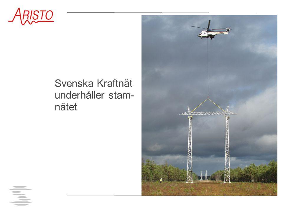 Svenska Kraftnät underhåller stam- nätet