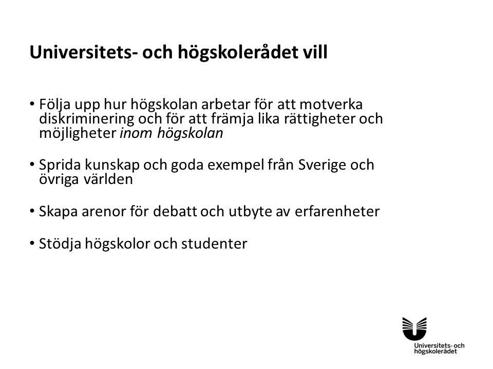 Universitets- och högskolerådet vill