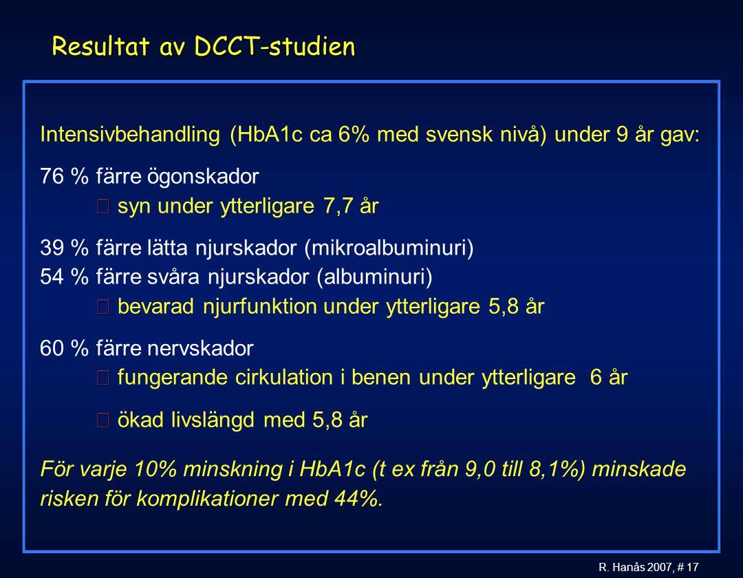 Resultat av DCCT-studien