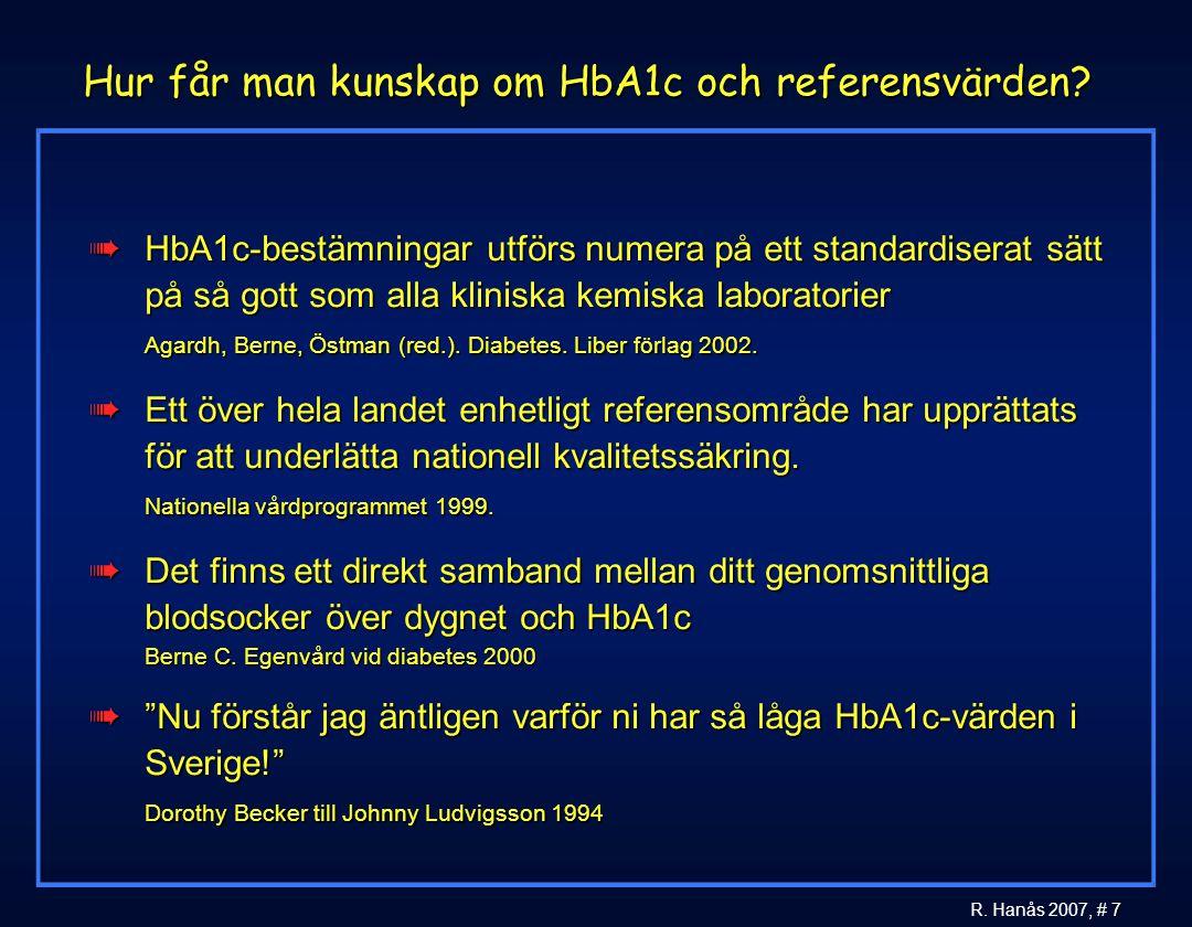 Hur får man kunskap om HbA1c och referensvärden