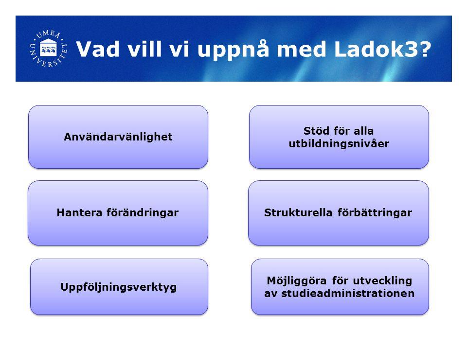 Vad vill vi uppnå med Ladok3