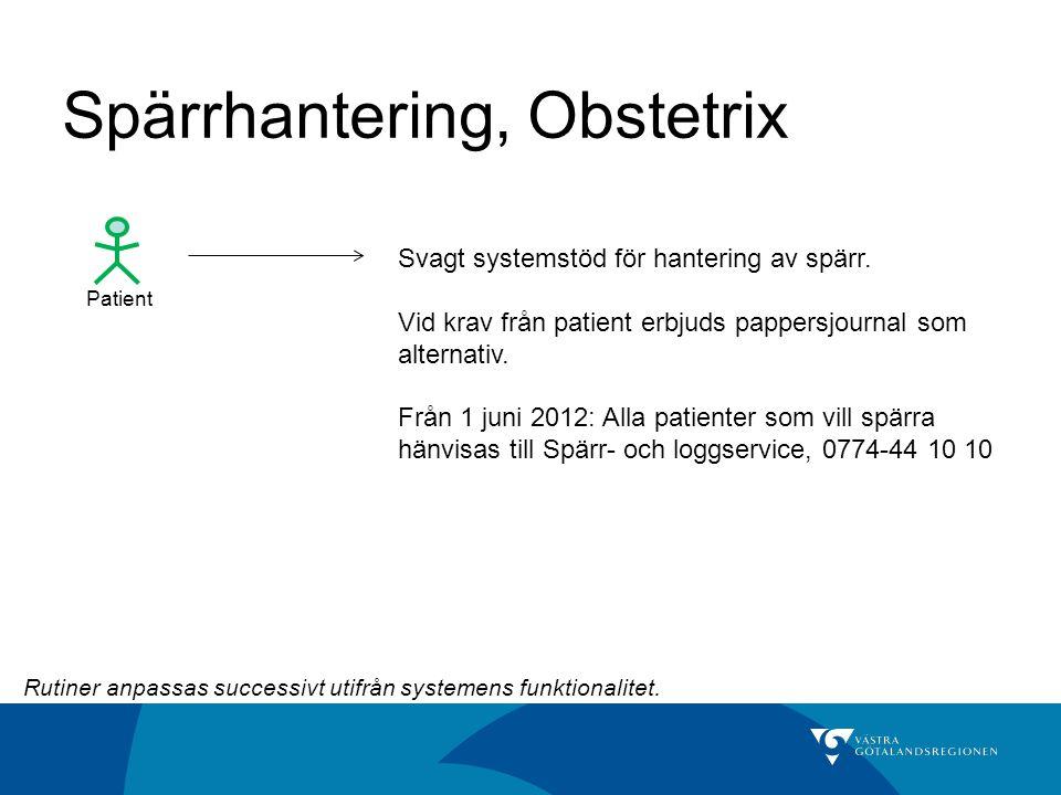Spärrhantering, Obstetrix