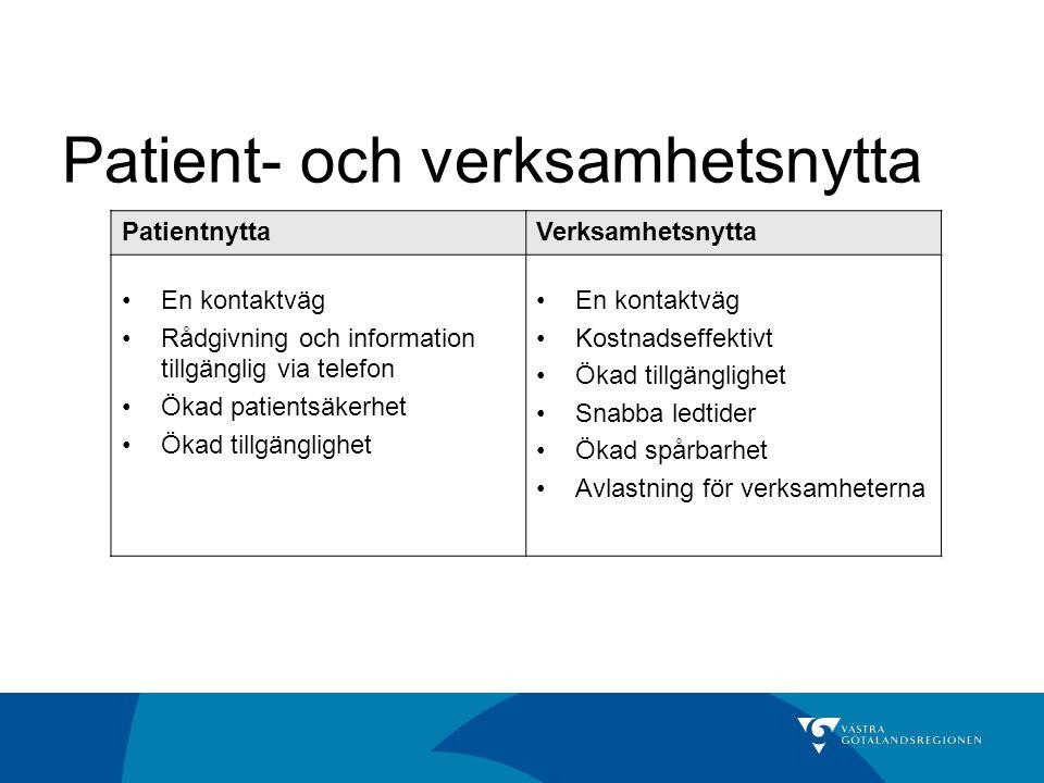 Patient- och verksamhetsnytta