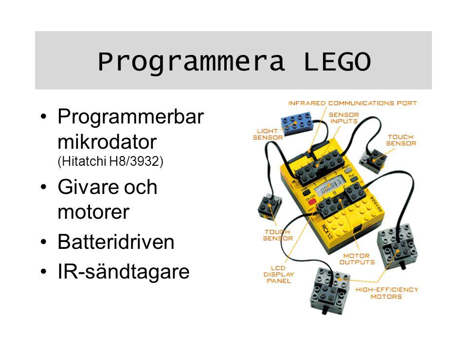 Programmera LEGO Programmerbar mikrodator (Hitatchi H8/3932)