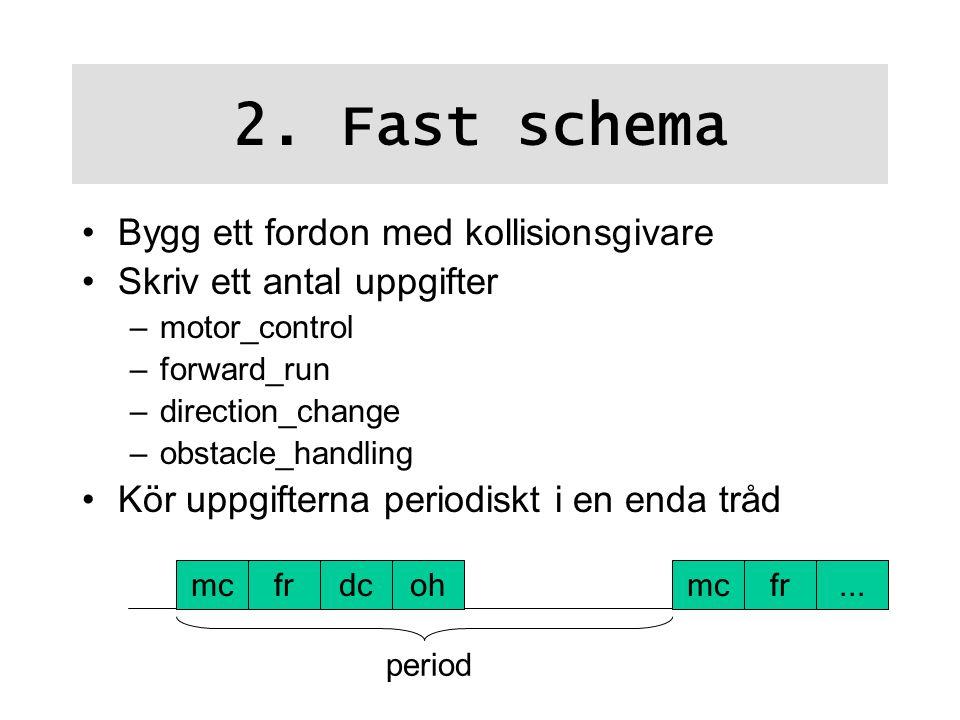 2. Fast schema Bygg ett fordon med kollisionsgivare