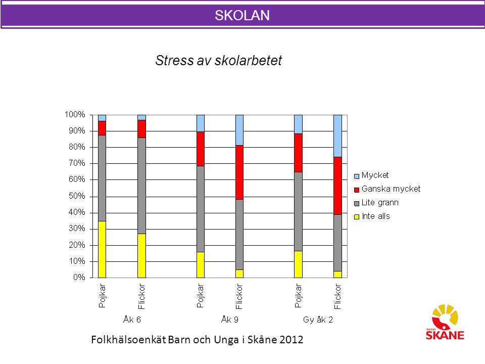 SKOLAN SKOLAN Stress av skolarbetet