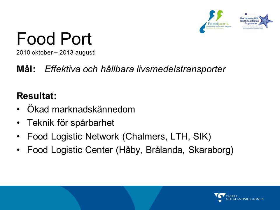 Food Port 2010 oktober – 2013 augusti