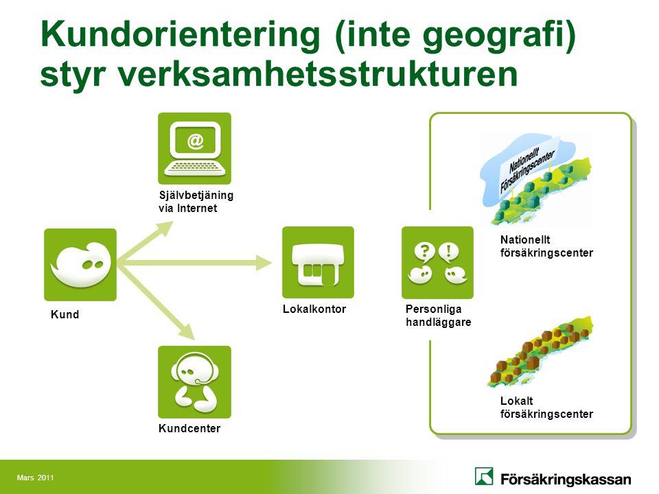Kundorientering (inte geografi) styr verksamhetsstrukturen