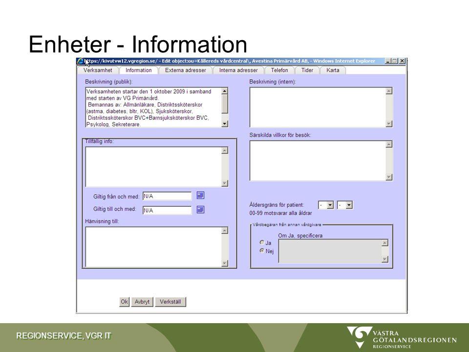 Enheter - Information