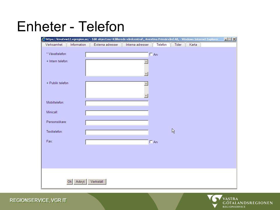 Enheter - Telefon