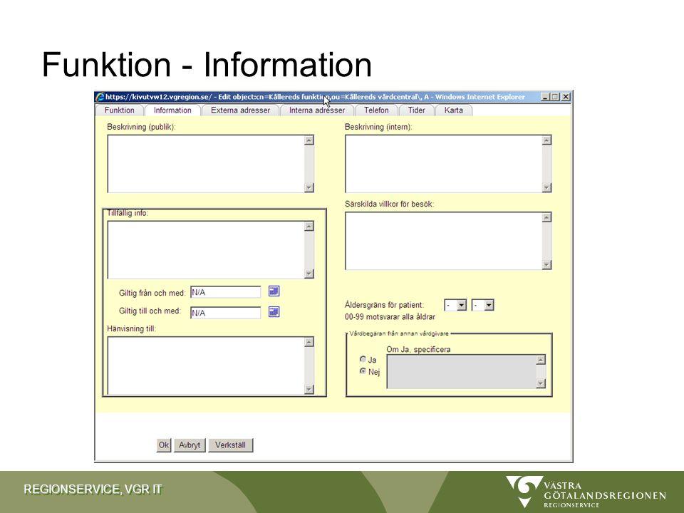 Funktion - Information