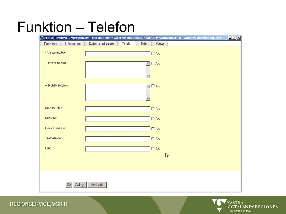 Funktion – Telefon