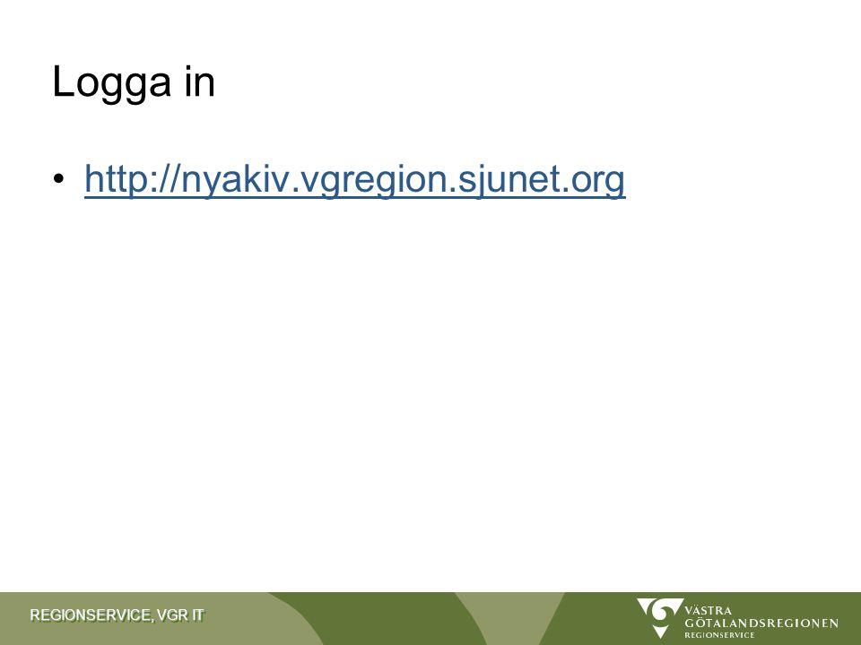 Logga in http://nyakiv.vgregion.sjunet.org