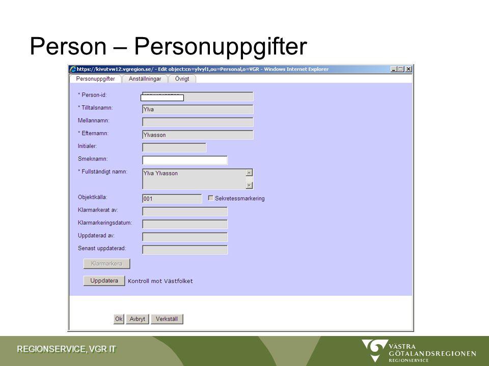 Person – Personuppgifter