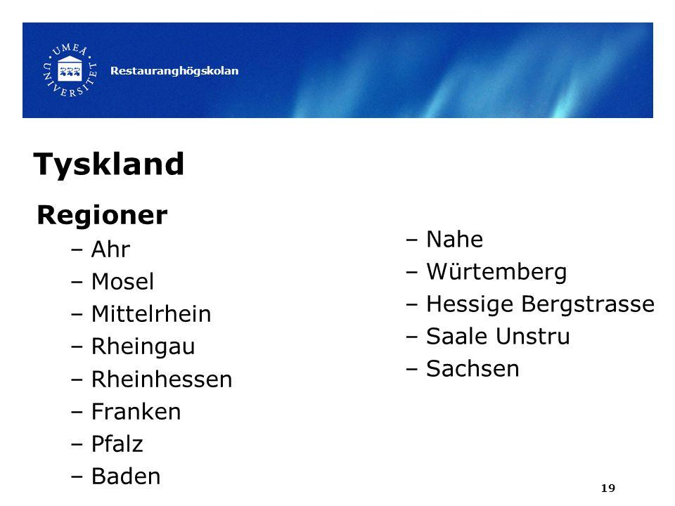 Tyskland Regioner Ahr Nahe Mosel Würtemberg Mittelrhein