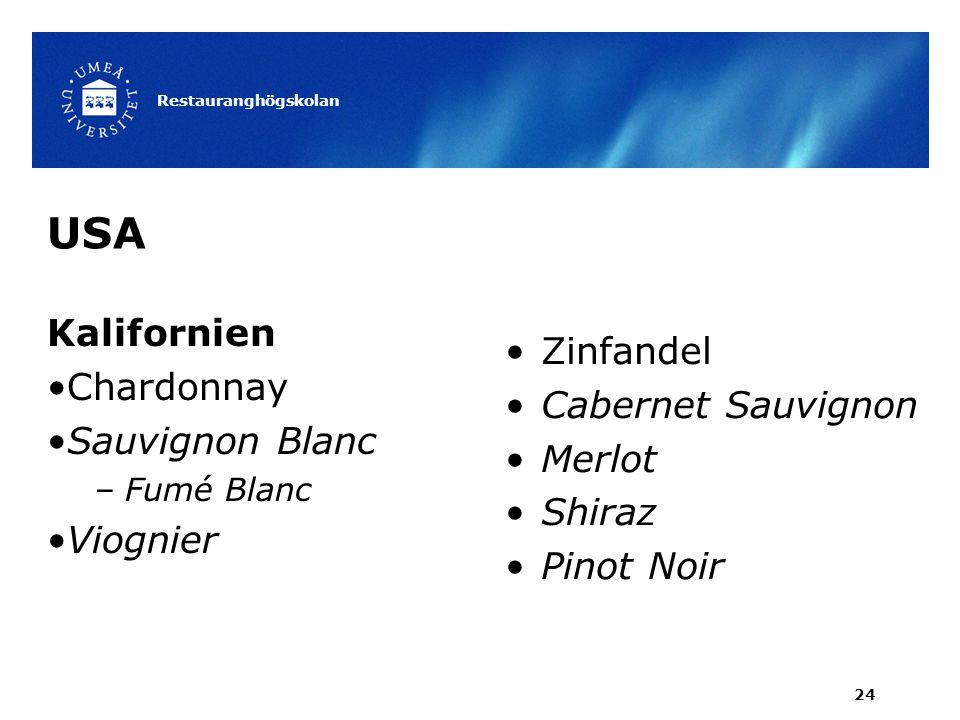USA Kalifornien Zinfandel Chardonnay Cabernet Sauvignon