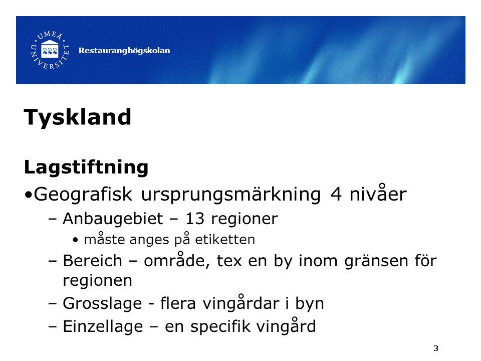 Tyskland Lagstiftning Geografisk ursprungsmärkning 4 nivåer