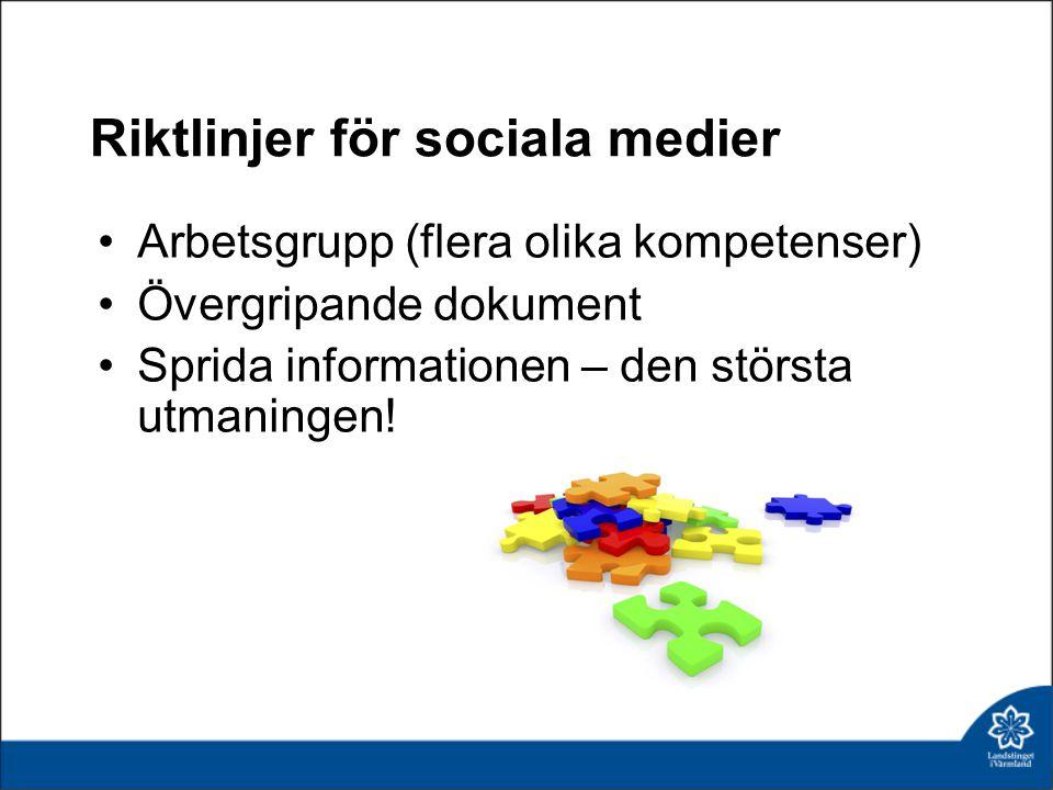 Riktlinjer för sociala medier