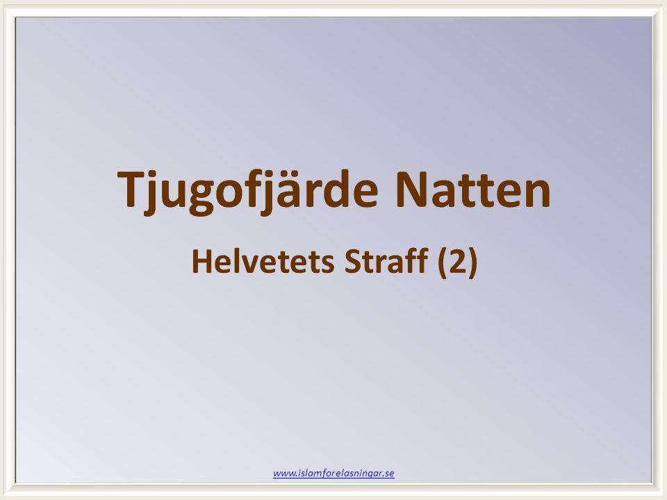 Tjugofjärde Natten Helvetets Straff (2) www.islamforelasningar.se
