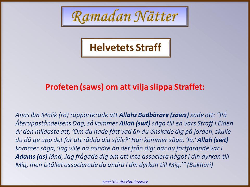 Ramadan Nätter Helvetets Straff