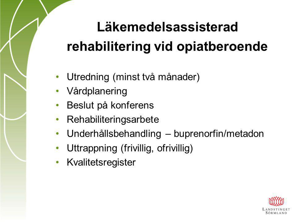 Läkemedelsassisterad rehabilitering vid opiatberoende