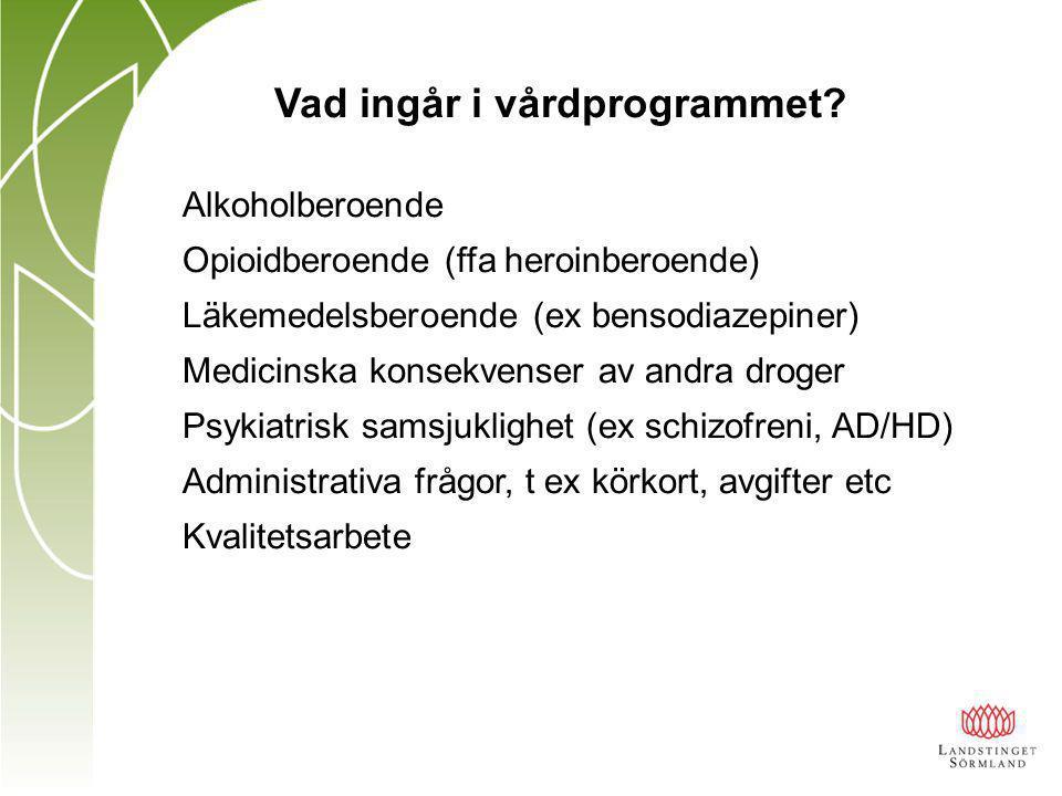 Vad ingår i vårdprogrammet