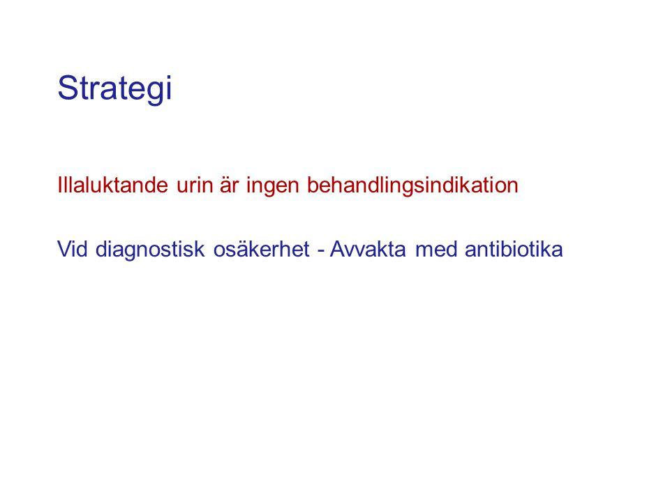 Strategi Illaluktande urin är ingen behandlingsindikation