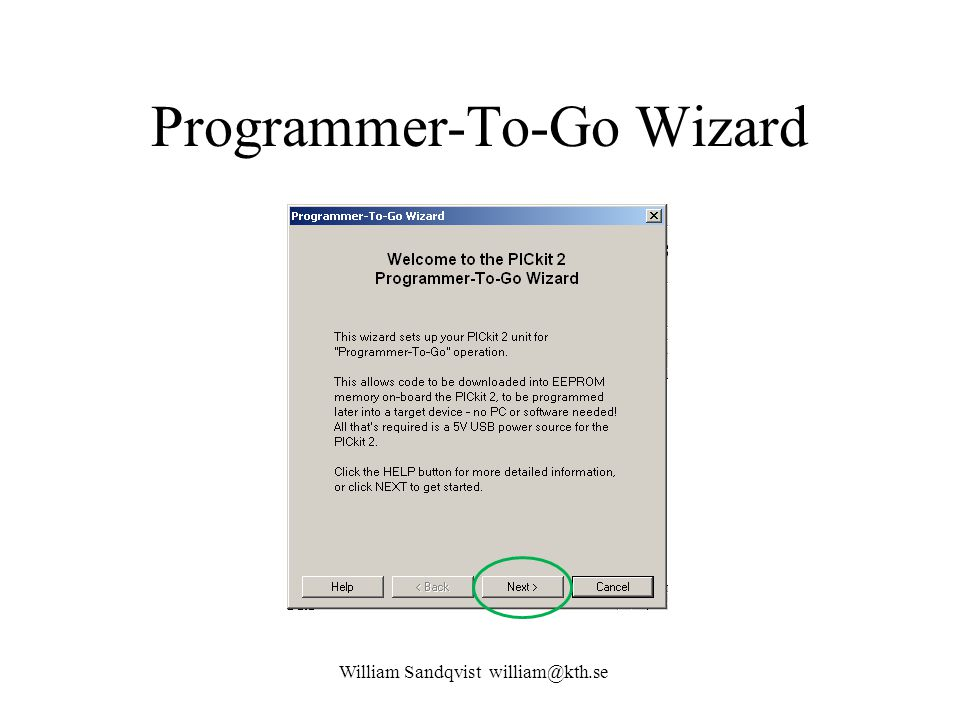 Programmer-To-Go Wizard