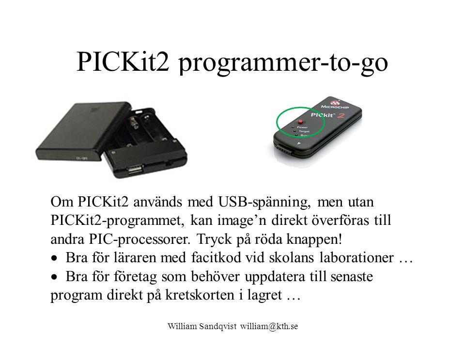 PICKit2 programmer-to-go