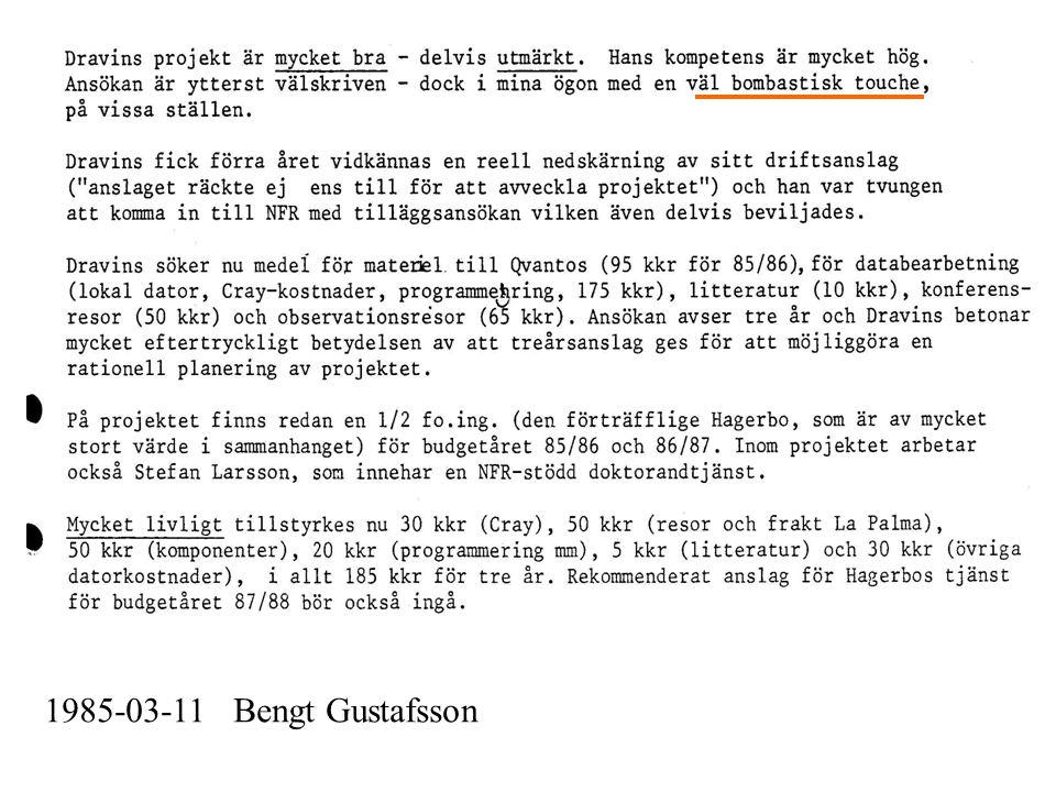 1985-03-11 Bengt Gustafsson